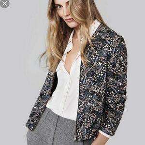 Loft dark floral bomber jacket